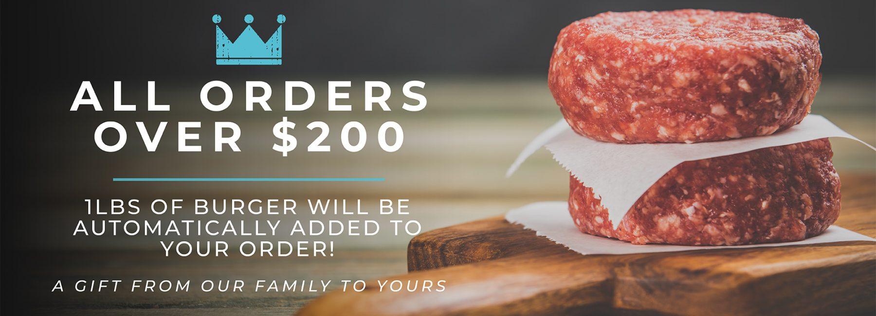 free burger promo